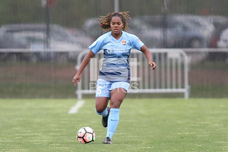Piscataway, NJ - Sunday April 30, 2017: Kayla Mills during a regular season National Women's Soccer League (NWSL) match between Sky Blue FC and FC Kansas City at Yurcak Field.