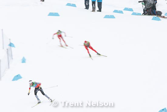 Trent Nelson  |  The Salt Lake Tribune.Team 4x5km Nordic Combined on the cross country track at the Whistler Olympic Park, XXI Olympic Winter Games in Whistler, Tuesday, February 23, 2010. Todd Lodwick