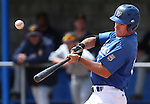 Western Nevada College's Connor Klein hits against the College of Southern Nevada during a college baseball game at John L. Harvey field, on Sunday, April 27, 2014, in Carson City, Nev.<br /> Photo by Cathleen Allison/Nevada Photo Source