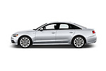 Car driver side profile view of a 2017 Audi A6 Prestige 4 Door Sedan