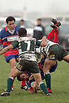 E. Avei gets unceremoniously dumped by R. Koroi. Counties Manukau Premier Club Rugby, Ardmore Marist vs Manurewa played at Bruce Pulman Park, Papakura on the 10th of June 2006. Ardmore Maris won 18 - 11.