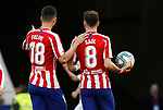 Atletico de Madrid's Felipe and Atletico de Madrid's Saul Niguez talks during La Liga match. Mar 07, 2020. (ALTERPHOTOS/Manu R.B.)
