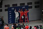14.04.2018, Shanghai Audi International Circuit, Shanghai, 2018 FORMULA 1 HEINEKEN CHINESE GRAND PRIX, 12.04. - 15.04.2018<br /> im Bild<br />Poleposition f&uuml;r Sebastian Vettel (GER#5), Scuderia Ferrari, 2.Platz f&uuml;r Kimi Raikkonen (FIN#7), Scuderia Ferrari, 3.Platz f&uuml;r Valtteri Bottas (FIN#77), Mercedes AMG Petronas Formula One Team<br /> <br /><br /> <br /> Foto &copy; nordphoto / Bratic