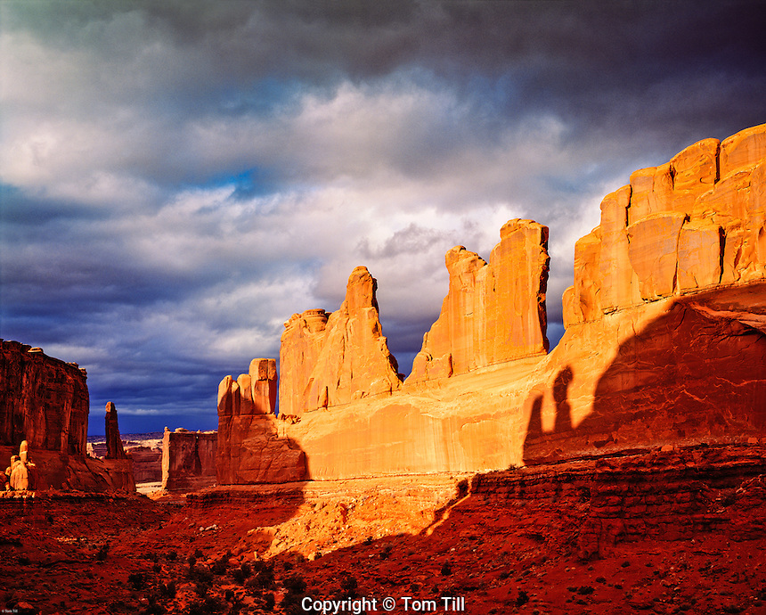 Spring Clouds at Park Avenue, Arches National Park, Utah