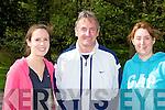 Sarah, Michael Howarth and Maria Doherty enjoying the Killarney Hospice Good Friday walk in Muckross ....