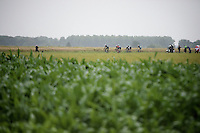here come the 6 leaders on sector 6<br /> <br /> 2014 Tour de France<br /> stage 5: Ypres/Ieper (BEL) - Arenberg Porte du Hainaut (155km)