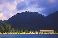 Hanalei Pier at Hanalei Bay on the north shore of Kaua'i.