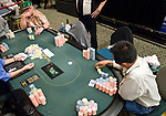 "A big pot between Dan Harrington & David ""The Dragon"" Pham"