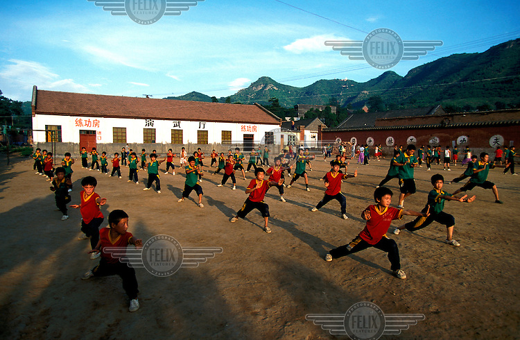 ©Mark Henley/Panos Pictures..China, Henan, Shaolin..Martial arts school close to the famous temple.