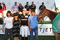 WELLINGTON, FL - DECEMBER 31:  Ventaja, played by Matt Coppola in the 2nd, is the Best Playing Pony in the Herbie Pennell Cup Final, at the International Polo Club Palm Beach, on December 31, 2017 in Wellington, Florida. (Photo by Liz Lamont/Eclipse Sportswire/Getty Images)