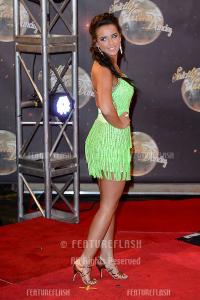 Georgia May Foote at the launch of Strictly Come Dancing 2015 at Elstree Studios in Borehamwood, Herts.<br /> September 1, 2015  Borehamwood, UK<br /> Picture: Dave Norton / Featureflash