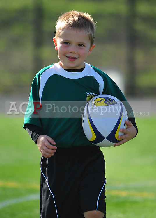 Pleasanton Cavaliers Rugby Football Club U-9 play a match against Danville at the Mustang Sports Complex in Danville, California Saturday January 15, 2010. (Photo by Alan Greth/AGP Photography.