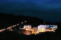 Cia. Vale do Rio Doce, Vista da esteira de rolagem e da moagem. Serra do Sossego<br />Canãa dos Carajás-Pará-Brasil<br />Foto: Paulo Santos/ Interfoto<br />Negativo 135<br />03/2004