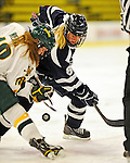 11 February 2011: University of New Hampshire Wildcat forward Arielle O'Neill, a Freshman from St. Catharines, Ontario, in action against the University of Vermont Catamounts at Gutterson Fieldhouse in Burlington, Vermont. The Lady Catamounts defeated the visiting Lady Wildcats 4-2 in Hockey East play. Mandatory Credit: Ed Wolfstein Photo