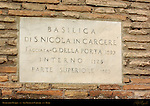 Dedication Plaque exterior San Nicola in Carcere Rome