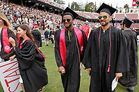 STANFORD, CA - June 17, 2018: Stanford student athletes at the 2018 Commencement at Stanford Stadium.
