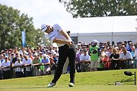 Jon Rahm (ESP) tees off the 1st tee during Friday's Round 2 of the 2017 PGA Championship held at Quail Hollow Golf Club, Charlotte, North Carolina, USA. 11th August 2017.<br /> Picture: Eoin Clarke | Golffile<br /> <br /> <br /> All photos usage must carry mandatory copyright credit (&copy; Golffile | Eoin Clarke)