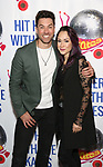 """Ace Young and Diana DeGarmo attend the Meet the Cast of """"Hit Her WithThe Skates"""" at the Bowlmor Times Square on October 16, 2018 in New York City."""