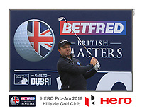 Richard Sterne (RSA) on the 10th tee during the Pro-Am of the Betfred British Masters 2019 at Hillside Golf Club, Southport, Lancashire, England. 08/05/19<br /> <br /> Picture: Thos Caffrey / Golffile<br /> <br /> All photos usage must carry mandatory copyright credit (&copy; Golffile | Thos Caffrey)