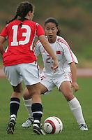 MAR 15, 2006: Albufeira, Portugal:  Na Zhang, Camilla Huse