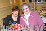 Enjoying the Recovery Haven coffee morning at the Arbutus Hotel in Killarney were Mary Lynch and Eileen Cronin.