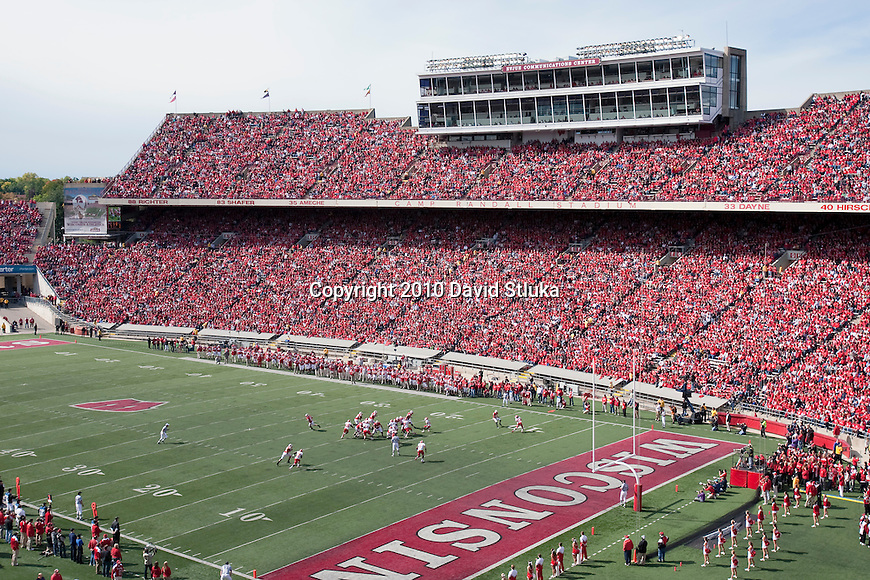 separation shoes 9c837 764e8 A general view of Camp Randall Stadium during the Wisconsin Badgers NCAA  college football game against