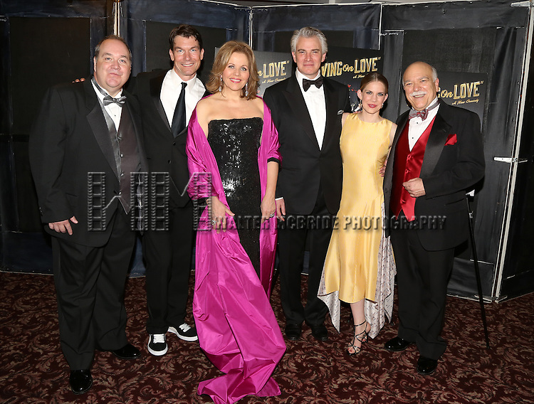 Blake Hammond, Jerry O'Connell, Renee Fleming, Douglas Sills, Anna Chlumsky, Scott Robertson attends the Broadway Opening Night Performance After Party for 'Living on Love' at Sardi's on April 20, 2015 in New York City.