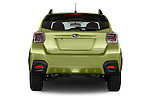 Straight rear view of a 2015 Subaru XV Crosstrek Hybrid 5 Door SUV Rear View  stock images