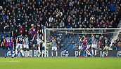 2nd December 2017, The Hawthorns, West Bromwich, England; EPL Premier League football, West Bromwich Albion versus Crystal Palace; Christian Benteke of Crystal Palace heads the ball in the West Bromwich goal area