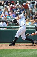 Trenton Thunder infielder Tyler Austin (17) during game against the Binghamton Mets at ARM & HAMMER Park on July 27, 2014 in Trenton, NJ.  Trenton defeated Binghamton 7-3.  (Tomasso DeRosa/Four Seam Images)