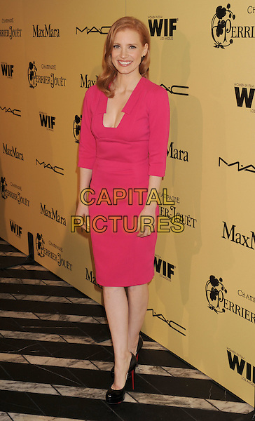 Jessica Chastain .5th Annual Women In Film Pre-Oscar Cocktail Party held at Cecconi's Restaurant, Los Angeles, California, USA..February 24th, 2012.full length pink dress .CAP/ROT/TM.©Tony Michaels/Roth Stock/Capital Pictures