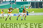 In Action  Ballyduff's Captain Mikey Boyle gets away from Abbeydorney's Darragh Scanlon and Damien Ryall at the Garvey's Supervalu Senior County Hurling Championship - Round 1 Abbeydorney Vs Ballyduff at Austin Stack Park on Saturday