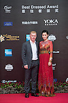 English Football Player Paul Scholes, and Actress Charmaine Sheh walk the Red Carpet event at the World Celebrity Pro-Am 2016 Mission Hills China Golf Tournament on 20 October 2016, in Haikou, China. Photo by Weixiang Lim / Power Sport Images