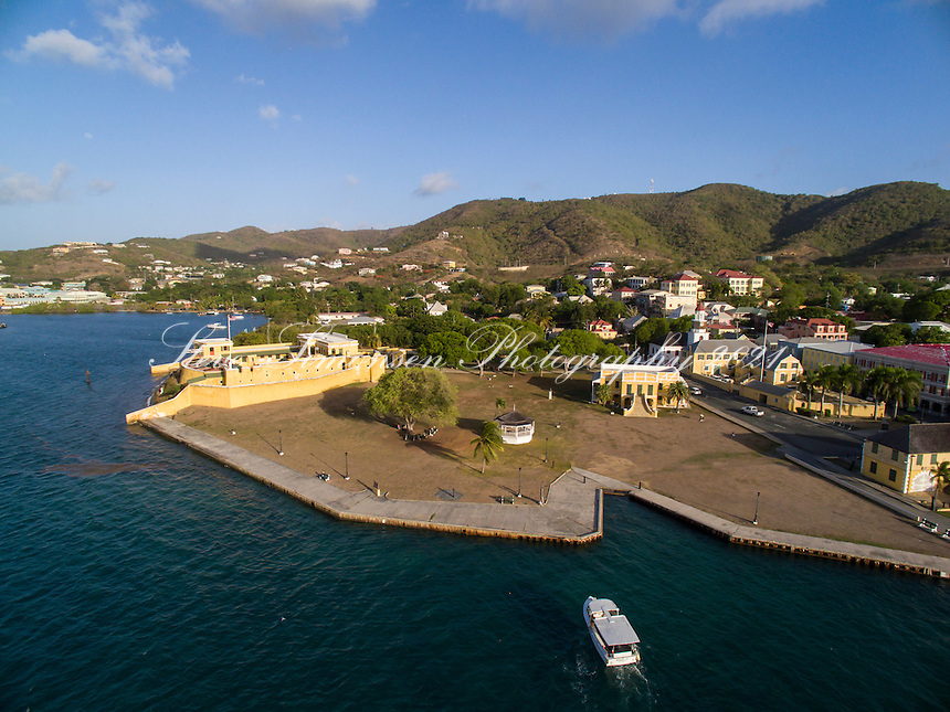 Aerial view of Christiansted<br />