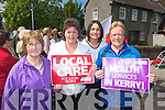 Rita O'Sullivan, Julia McCormac, Elenor Trant and Phylis Keane Pictured at the Silent protest in regard to the mammogram services at Kerry General Hoapitalon Saturday