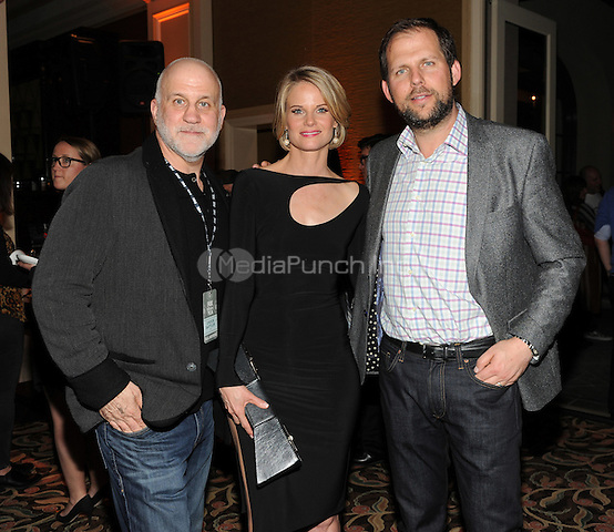 PASADENA, CA - JANUARY 17: Chuck Salter, Joelle Carter, and Nick Grad attend the 2015 FOX Winter TCA All Star Party at the Langham Huntington Hotel on January 17, 2015 in Pasadena, California. Credit: PGFM/MediaPunch