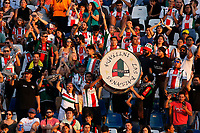 SANTIAGO DE CHILE - CHILE: 06-02-2019: Hinchas de Club Deportivo Palestino (CHL) animan a su equipo, durante partido de la Segunda fase, llave 4, entre Club Deportivo Palestino (CHL) y Deportivo Independiente Medellín (COL), por la Copa Conmebol Libertadores 2019 en el estadio San Carlos de Apoquindio de la ciudad de Santiago de Chile. / Fans of Club Deportivo Palestino (CHL) cheer for their team during a match between Club Deportivo Palestino (CHL) and Deportivo Independiente Medellin of the second phase, key 4, for Copa Conmebol Libertadores 2019 at the San Carlos de Apoquindio Stadium, in the city of Santiago de Chile. Photos: VizzorImage / Andrés Piña / Cont. / Photosport