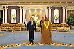 A handout picture released by Egypt's Middle East News Agency (MENA) shows United Arab Emirates's Sheikh Mohammed bin Rashid al-Maktoum (R), meets with Egypt's President Abdel Fattah al-Sisi (L) in Abu Dhabi. APAIMAGES/OFFICE OF EGYPTIAN PRESIDENCY