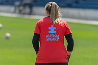 Bridgeview, IL - Saturday April 22, 2017: Autism Speaks shirts during a regular season National Women's Soccer League (NWSL) match between the Chicago Red Stars and FC Kansas City at Toyota Park.