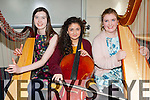 talented string musicians Emily O'Sullivan Lauragh, Eden Abrahams Farmers Bridge and Shelley Ní Eidhin Tralee competing at the Young Musician of the Year competition in the KDYS on Saturday