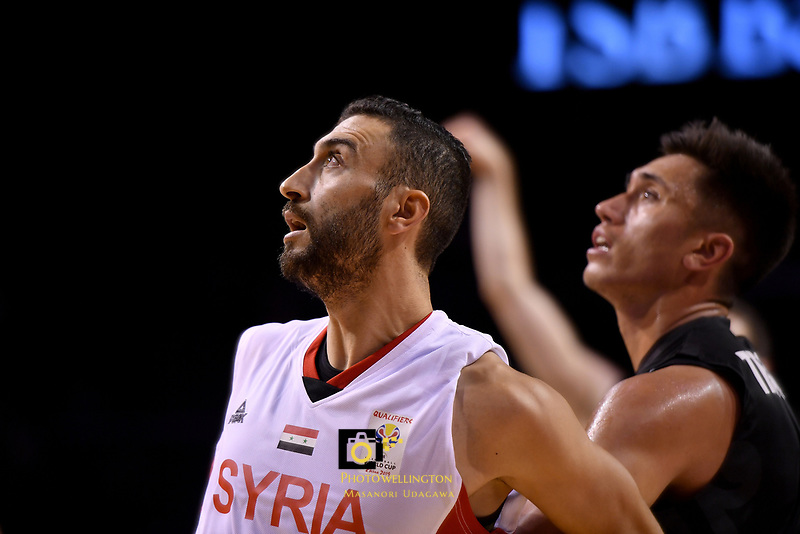 Syria&rsquo;s Sharif Al Osh in action during the FIBA World Cup Basketball Qualifier - NZ Tall Blacks v Syria at TSB Bank Arena, Wellington, New Zealand on Sunday 2 2018. <br /> Photo by Masanori Udagawa. <br /> www.photowellington.photoshelter.com