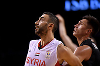 Syria's Sharif Al Osh in action during the FIBA World Cup Basketball Qualifier - NZ Tall Blacks v Syria at TSB Bank Arena, Wellington, New Zealand on Sunday 2 2018. <br /> Photo by Masanori Udagawa. <br /> www.photowellington.photoshelter.com