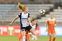 Houston, TX - Saturday July 15, 2017: Tori Huster and Morgan Brian during a regular season National Women's Soccer League (NWSL) match between the Houston Dash and the Washington Spirit at BBVA Compass Stadium.