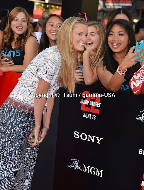Heather Morris 046 at the 22 Jump Street Premiere at the Westwood Village Theatre in Los Angeles.