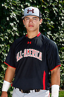 Catcher Jeremy Martinez #6 poses for a photo before the Under Armour All-American Game at Wrigley Field on August 13, 2011 in Chicago, Illinois.  (Mike Janes/Four Seam Images)