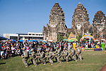 Festival Monkey Dancers perform at Wat Phra Prang Sam Yot