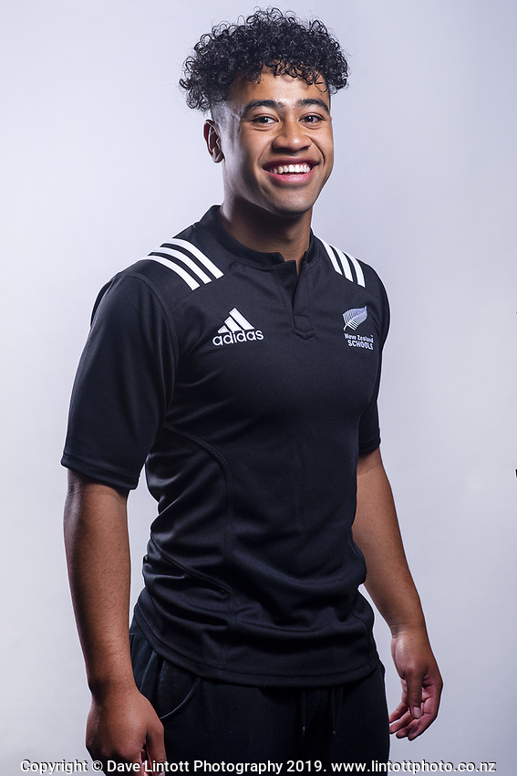 Manu Paea (Rotorua Boys' High School). 2019 New Zealand Schools rugby union headshots at the Sport & Rugby Institute in Palmerston North, New Zealand on Wednesday, 25 September 2019. Photo: Dave Lintott / lintottphoto.co.nz