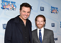 FAMILY GUY: (L-R) Creator/Executive Producer/Cast Member Seth MacFarlane and cast member Seth Green attend the FAMILY GUY 300th Episode Celebration on Wednesday, Jan. 10, 2018 at Cicada Restaurant in Los Angeles, CA. (Photo by Frank Micelotta/FOX/PictureGroup)