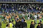 Deportivo Cali venció como local 1-0 a América. Partido aplazado de la Copa Águila 2017. El juego terminó con disturbios.