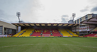 The Rookery End, Vicarage Road Stadium, Vicarage Road, Watford. England on 02 March 2014. Photo by Andy Rowland.